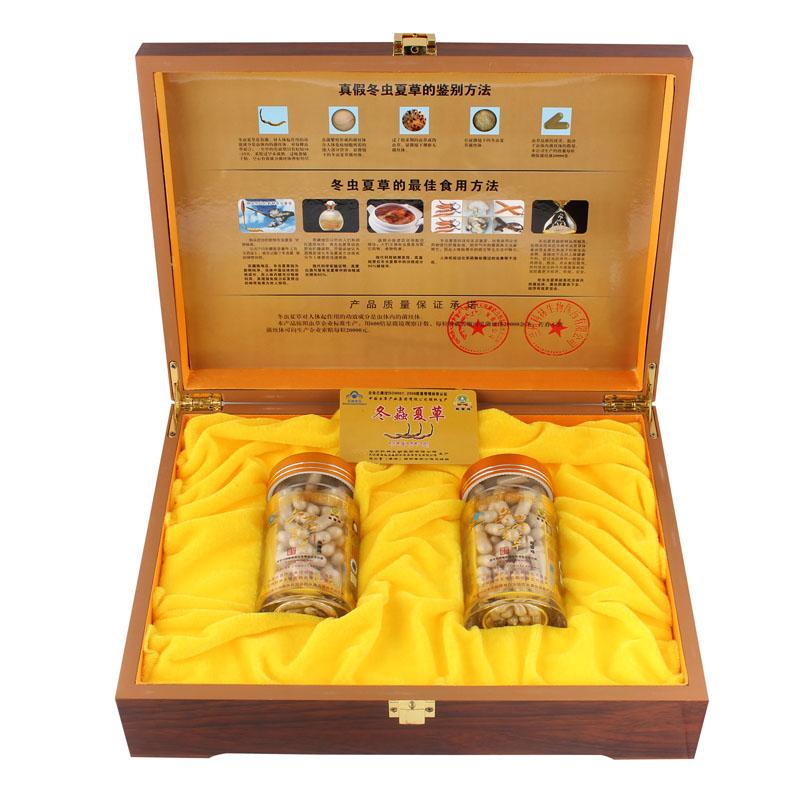 藏雪瑪牌冬蟲夏草膠囊禮盒裝高檔木盒亞克力瓶